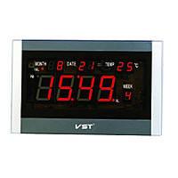 Часы сетевые настенные говорящие 771 Т-1 красные