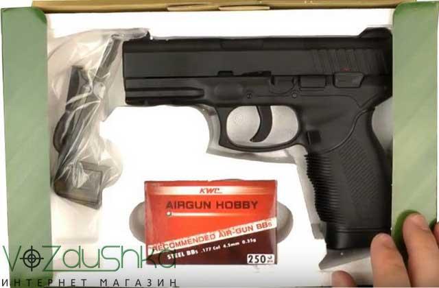 пневматический пистолет  kwc km-46 (kwc taurus pt24 7) в коробке