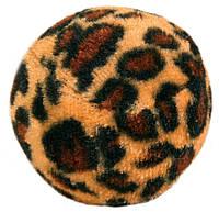 Набор мячиков Trixie Set of Toy Balls with Leopard Print для кошек с колокольчиком, 4 шт