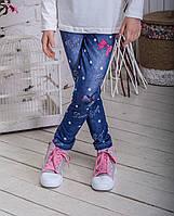 Лосины детские для девочки джинс горох