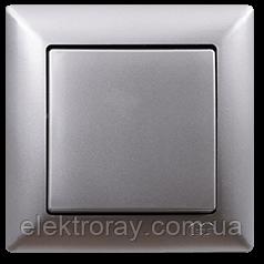 Выключатель Gunsan Visage Metallic серебро