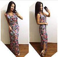 Легкое платье в пол в цветочном принте z-t240333