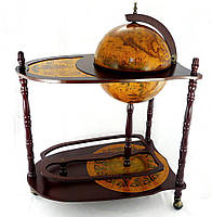 Глобус бар напольный со столиком 330 мм коричневый