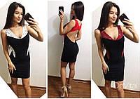 Облегающее платье с открытой спиной в расцветках x-t240334