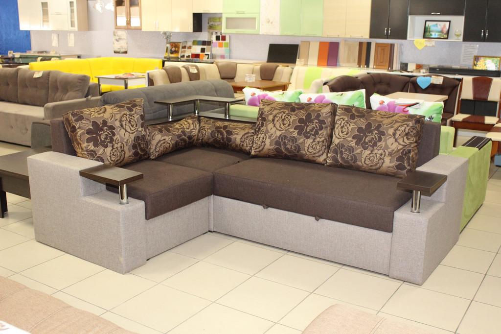 Угловой диван с раскладным журнальным столиком серии 15-1-6-7