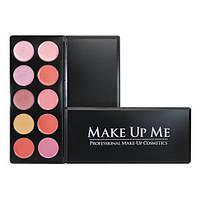 Профессиональная палитра помад для губ 10 цветов Make Up Me L10-3 - L10-3