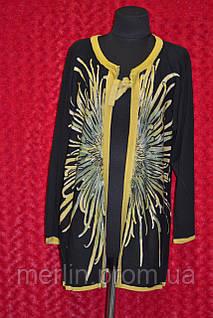 Женская чёрная кофта с рукавами