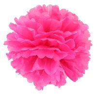 Купить бумажный помпон для оформления, 35 см. ярко розовый