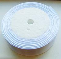 Лента атласная белая 2.5см