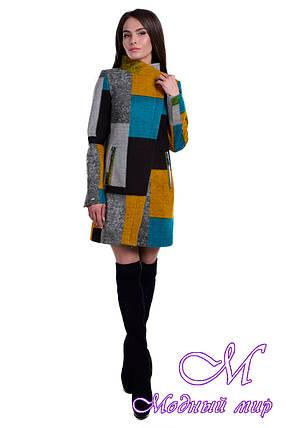 Женское весеннее пальто с принтом (р. S, M, L) арт. Эльпассо принт шерсть 6205, фото 2