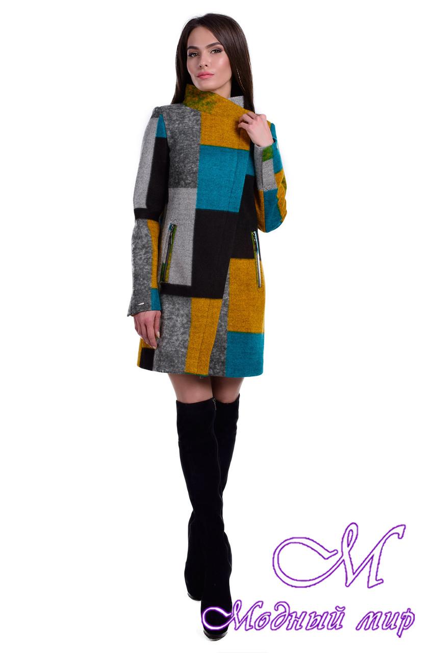 Женское весеннее пальто с принтом (р. S, M, L) арт. Эльпассо принт шерсть 6205