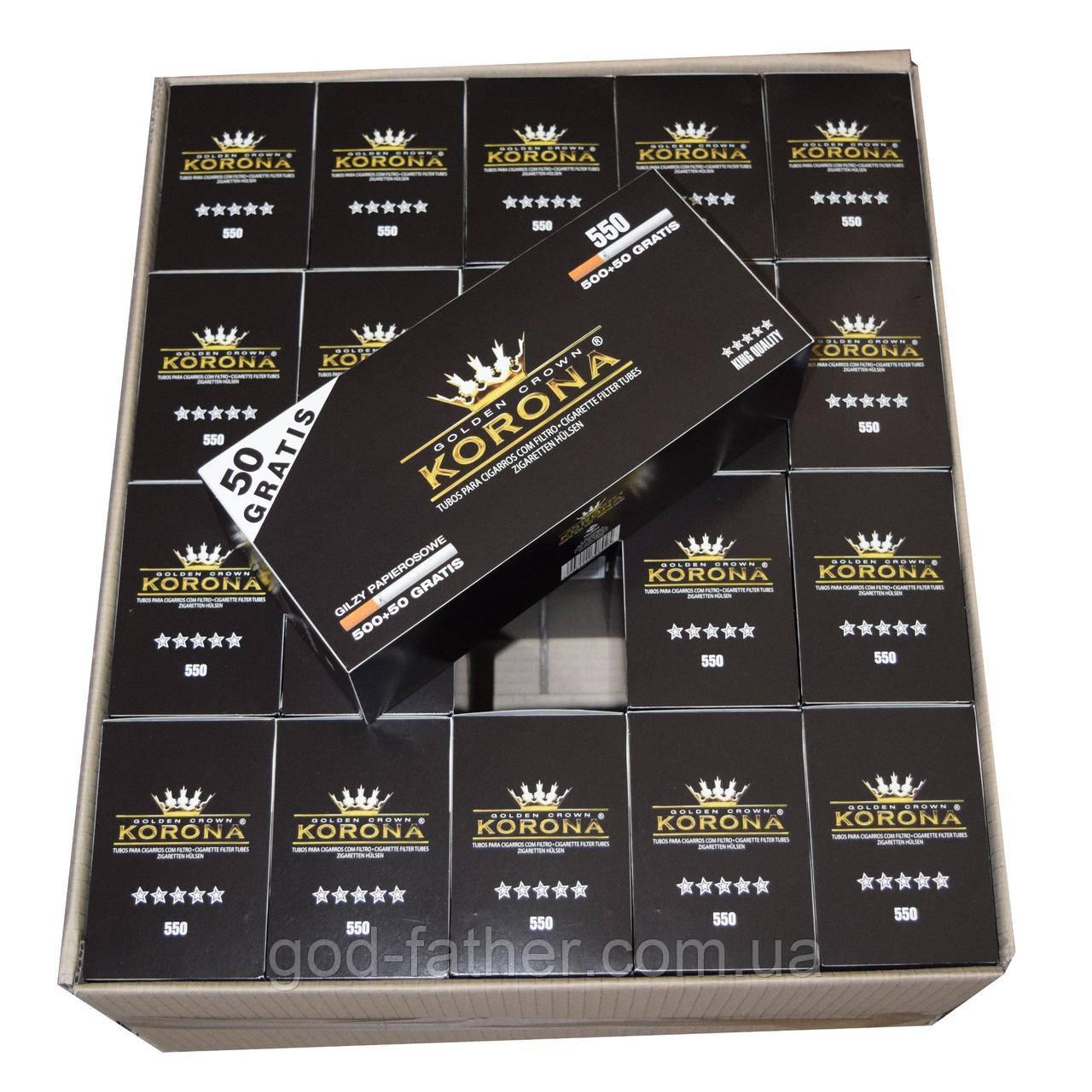 Сигаретные гильзы для набивки табаком 11000шт Корона