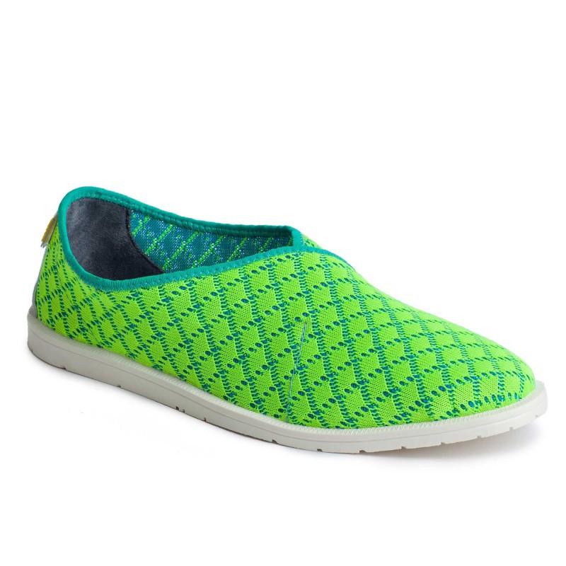 Слипоны текстиль OLDCOM мужские Infinity зеленые