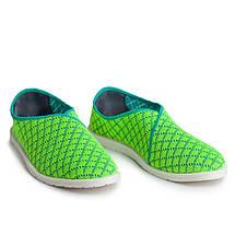 Слипоны текстиль OLDCOM мужские Infinity зеленые, фото 2