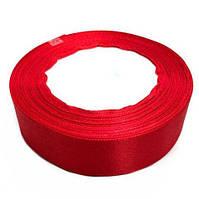 Лента атласная красная 2.5см