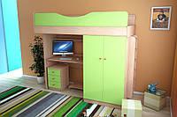 Мебельный комплект с прямым шкафом, Детская мебель, детский шкаф