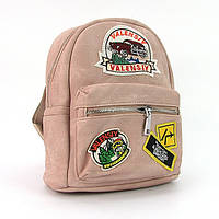 Рюкзак - сумка малая кожзам молодежная пудра Valensiy 652-11, фото 1