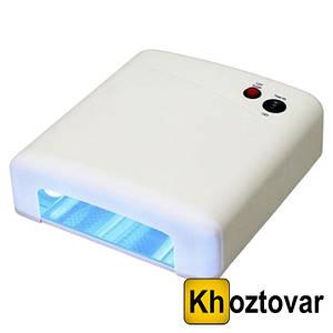 Ультрафіолетова лампа з таймером UV Lamp 36 Watt JD 818 | Лампа для сушіння нігтів