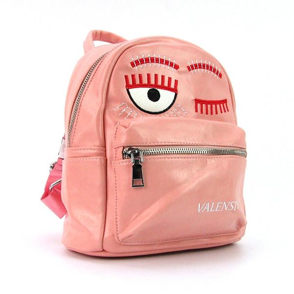 729657b6fb87 Рюкзак маленький розовый Valenciy val-656-77pin молодежный женский модный  тренд сезона 2017,