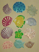 Набор миниковриков Морские жители 12 шт, фото 1