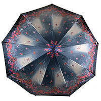 Зонт складной с ветрозащитой женский
