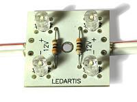 Светодиодные модули 4 светодиода негерметичные, фото 1