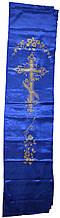 Накладка на крышку гроба (синяя)