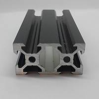 Алюмінієвий профіль 20х40 V-slot анадований, чорний