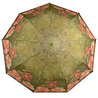 Зонт складной женский зеленый