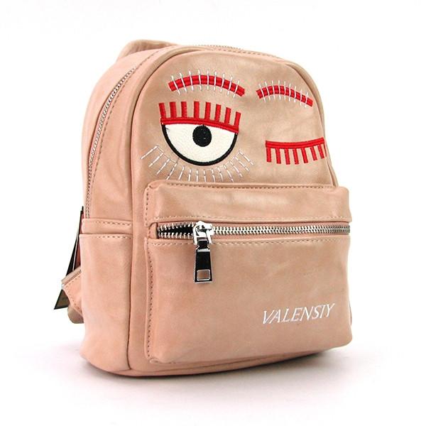 Рюкзак - сумка малая кожзам пудра Valensiy 656-42