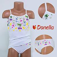 Детский комплект нижнего белья майка+трусики Donella, Турция. Donella 4371XCS 0/1-R. Размер на 0-1 годик.