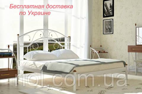 Кровать металлическая Скарлет полуторная