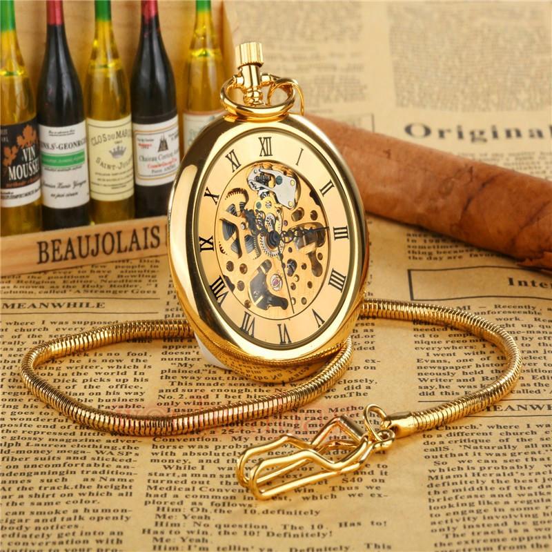 Часы карманные классика бронза