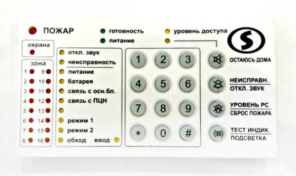 Светодиодная клавиатура на 16 зон Линд-9М2, фото 2