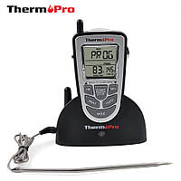 Термометр беспроводной ThermoPro TP-09 (-10 до +250 °С) с нержавеющим щупом. Дальность до 100м