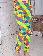 Лосины для девочки Яркие ромбики, фото 1