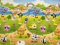 """Детский развивающий коврик пол Babypol """"Веселая ферма"""" 1,8 х 1,5 м"""