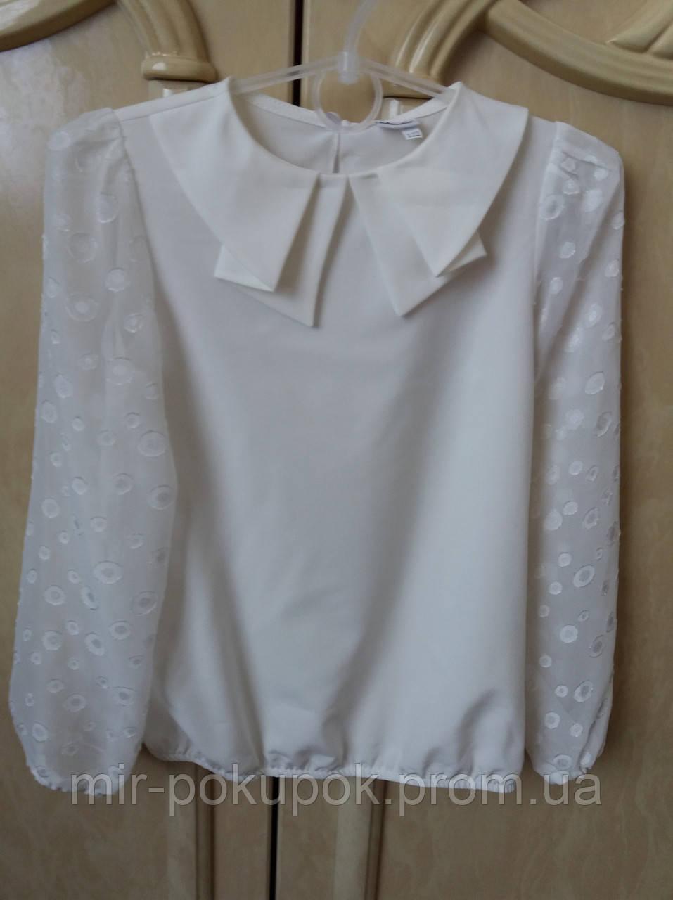 Нарядная блузка на девочку в школу 1943 молоко