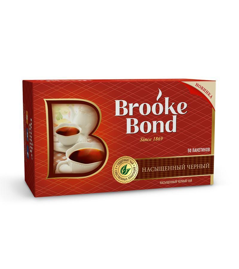 Чай Brooke Bond в пакетиках черный 50 пакетиков