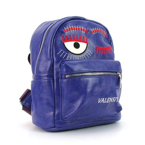 Рюкзак - сумка малая кожзам фиолетовая Valensiy 656-87