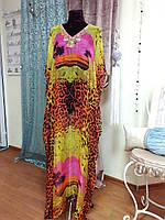 Макси-платье из натурального шелка, парэо, накидка на купальник, монако