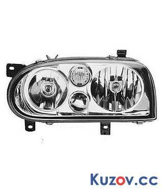 Фара VW Golf III 91-97 правая (HELLA) H7+H7 Z052546