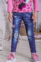 Лосины детские джинс цветы, фото 1