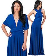 """Платье вечернее трансформер """"Манго"""" (Синее), фото 1"""