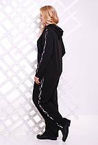 Женский спортивный костюм с пайетками рр 54-62, фото 3