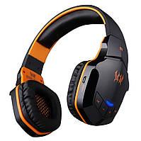 Беспроводные Bluetooth наушники Kotion Each B3505 с автономностью до 10 часов (Черно-оранжевый), фото 1