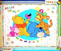 """Детский развивающий коврик пол Babypol """"Маленькие герои"""" 1,8 х 1,5 м"""