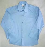 Детская школьная голубая рубашка с длинным рукавом на мальчиков 10-16 лет Турция