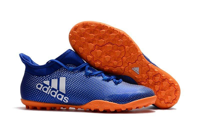 Мужские бутсы сороконожки adidas X Tango 17.3 TF синие