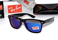 Яркие солнцезащитные очки рей бен барон,ray ban